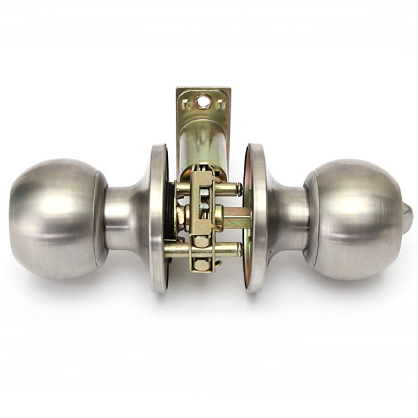 brushed stainless steel door knobs photo - 17