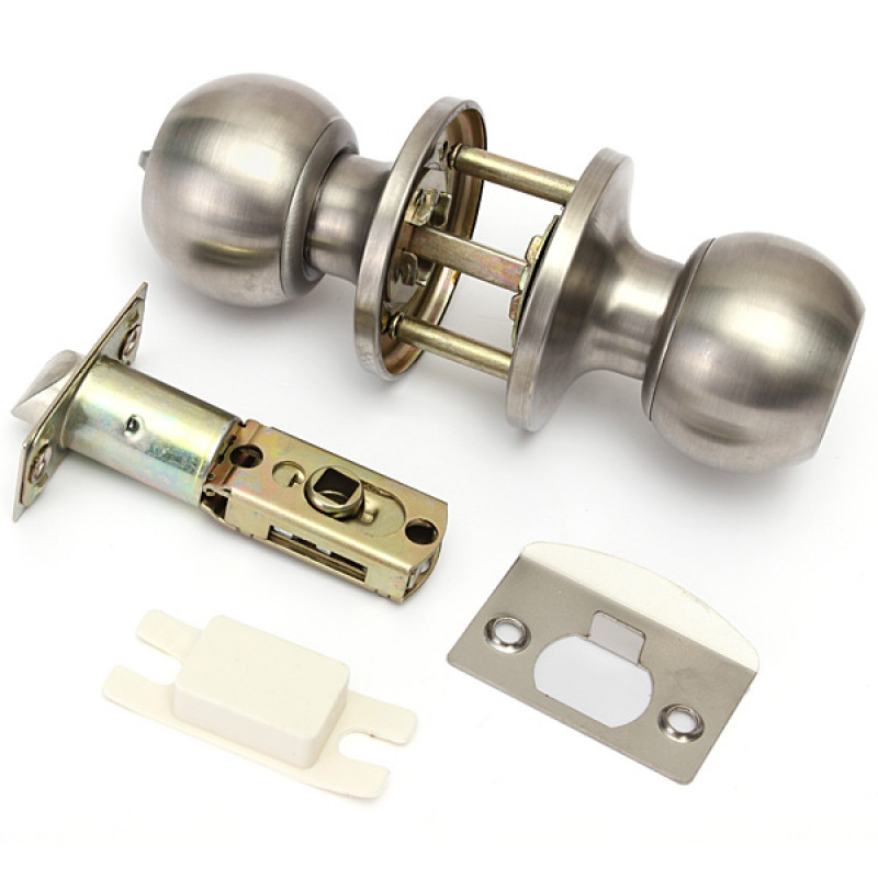 brushed stainless steel door knobs photo - 18