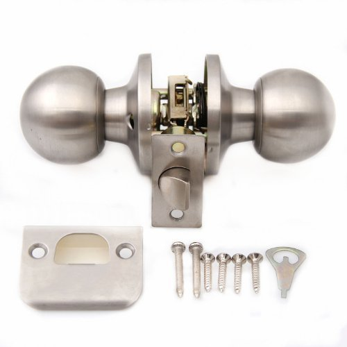 brushed stainless steel door knobs photo - 8
