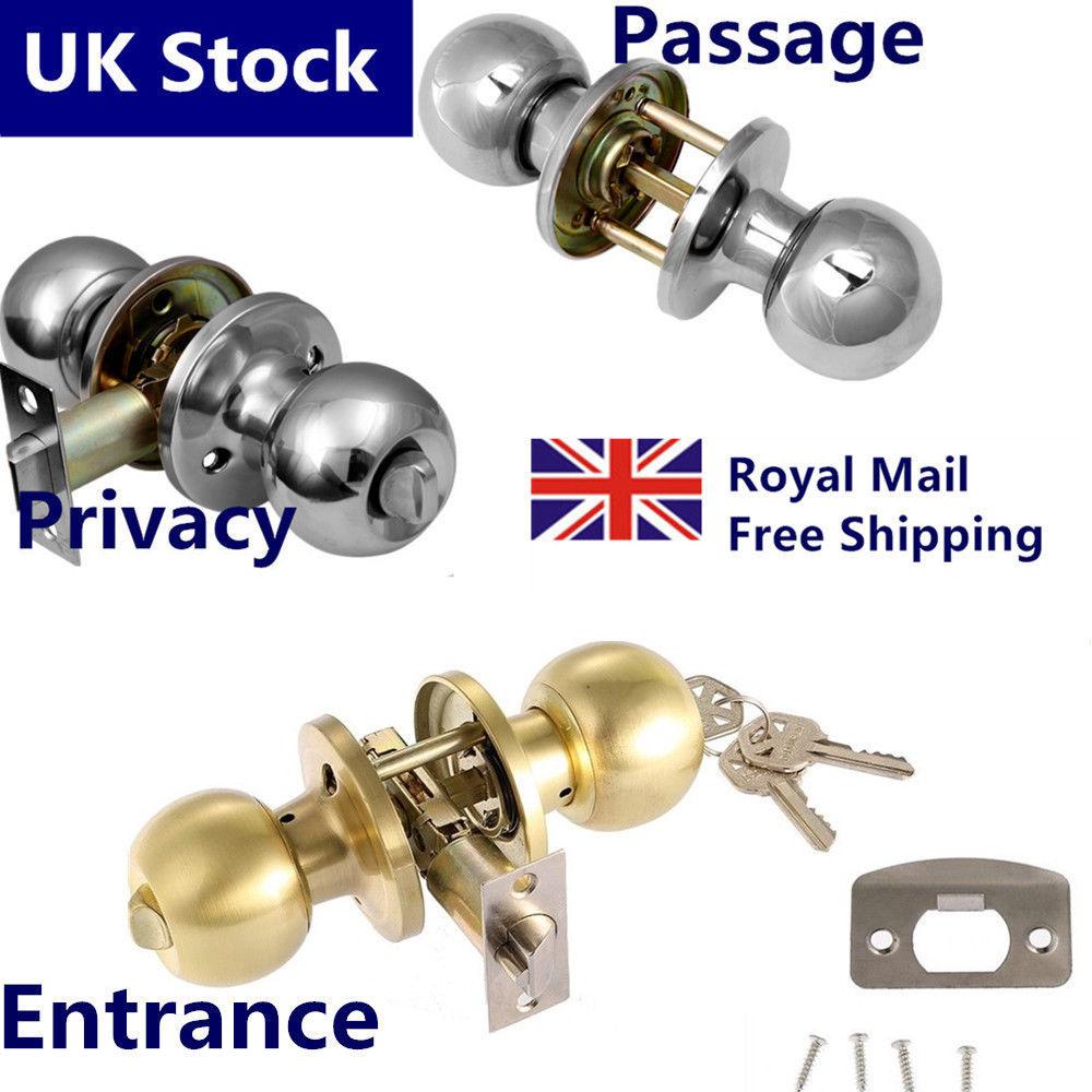 brushed steel door knobs photo - 11