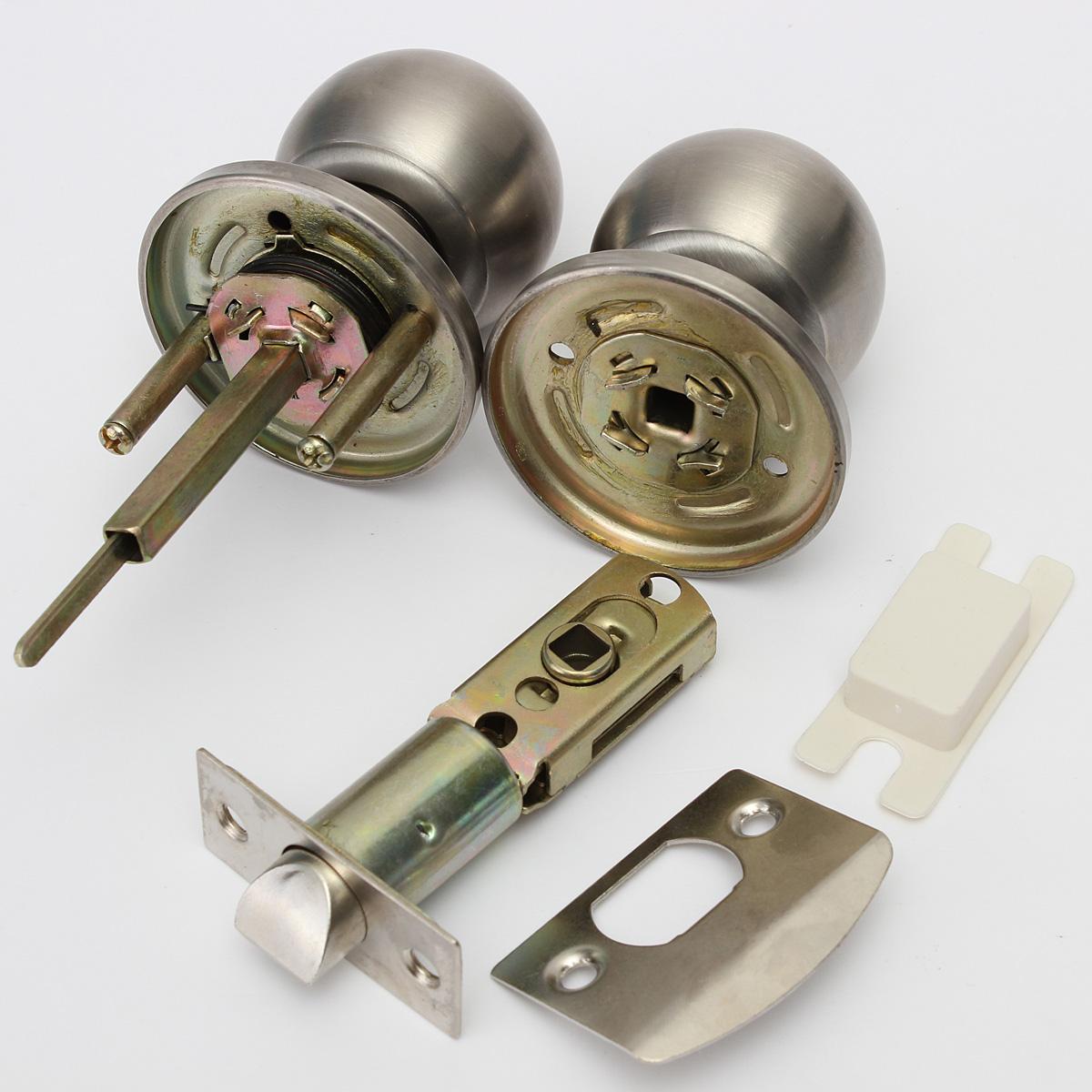 brushed steel door knobs photo - 6