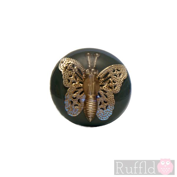 butterfly door knob photo - 10