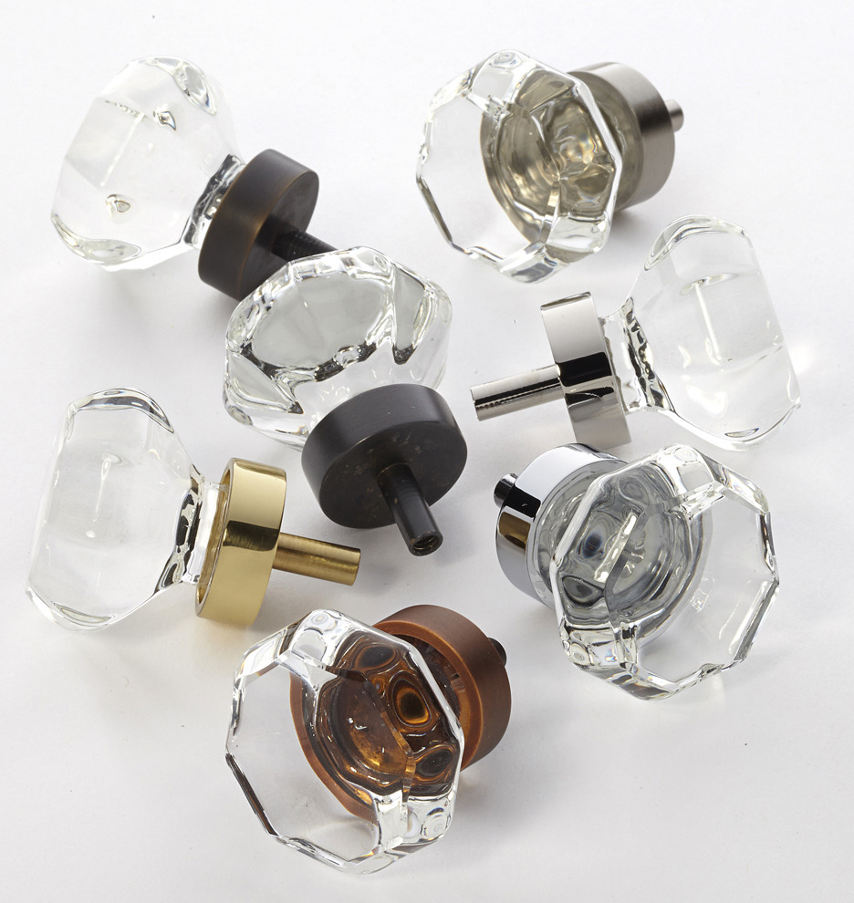 cabinet door knobs glass photo - 4
