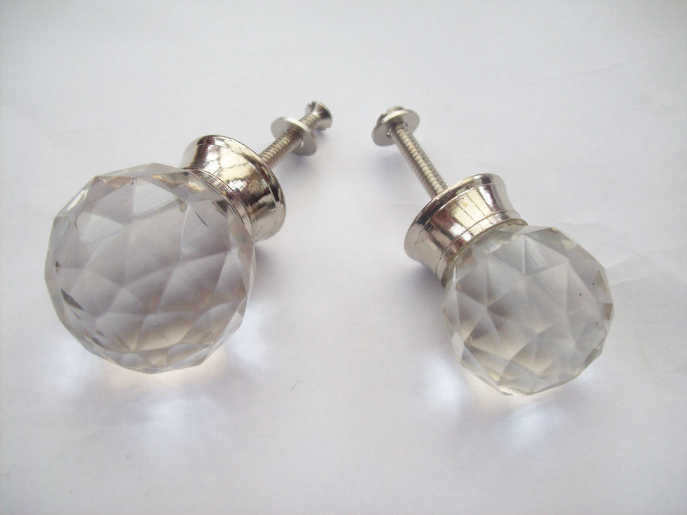 cabinet door knobs glass photo - 8