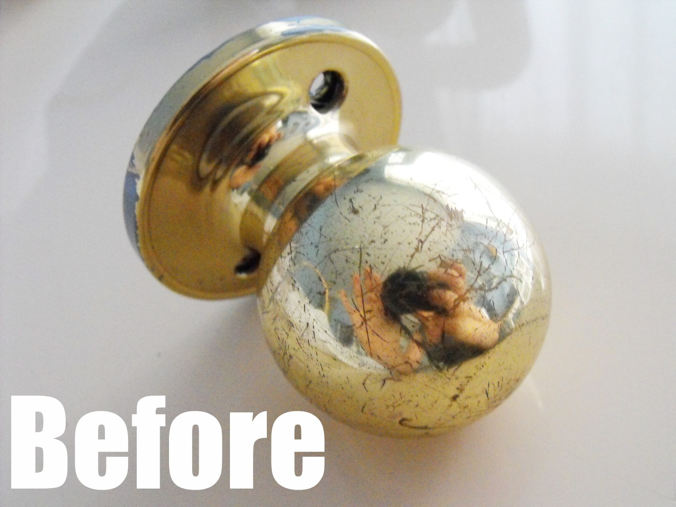 can you paint brass door knobs photo - 1