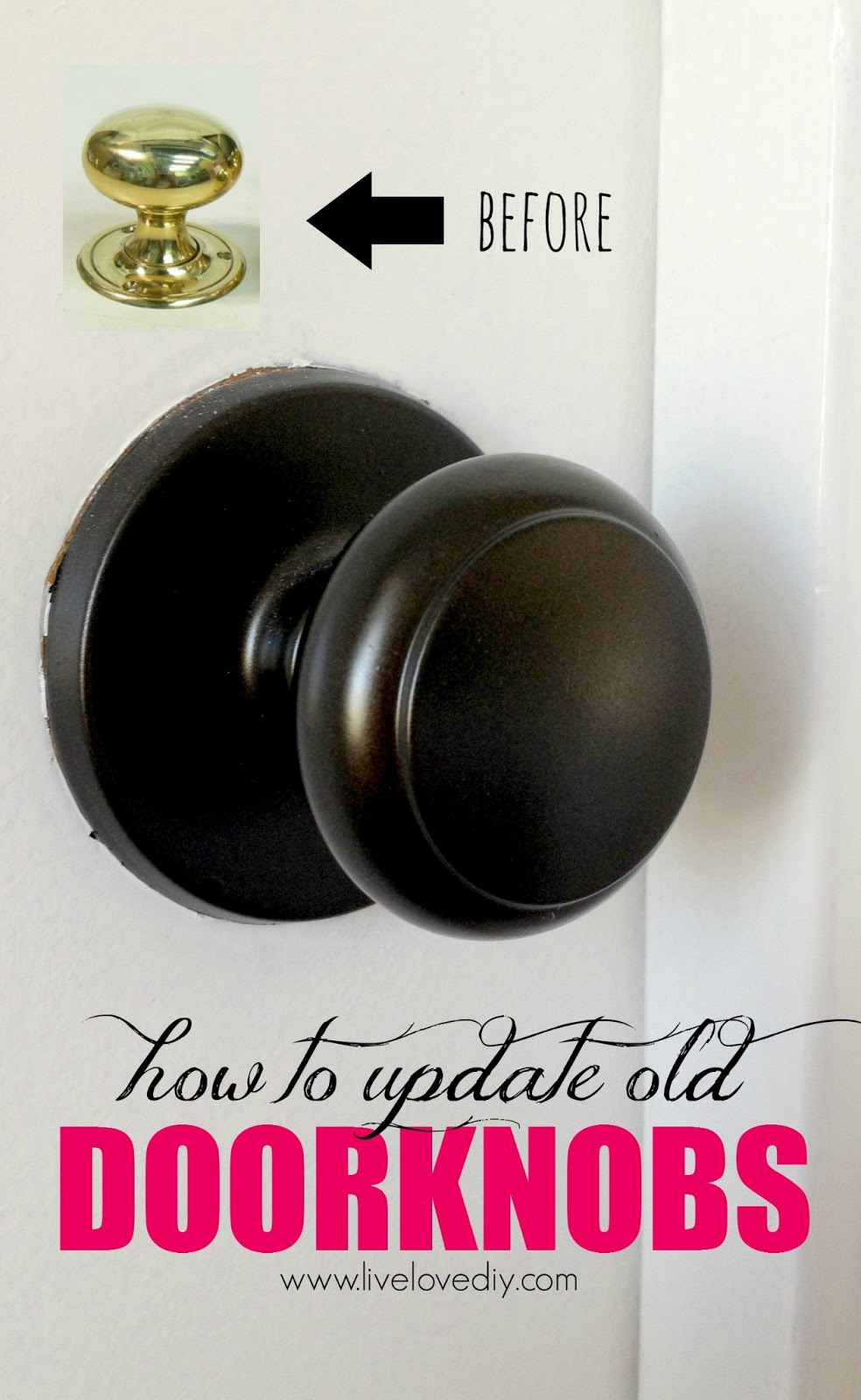 can you paint brass door knobs photo - 4