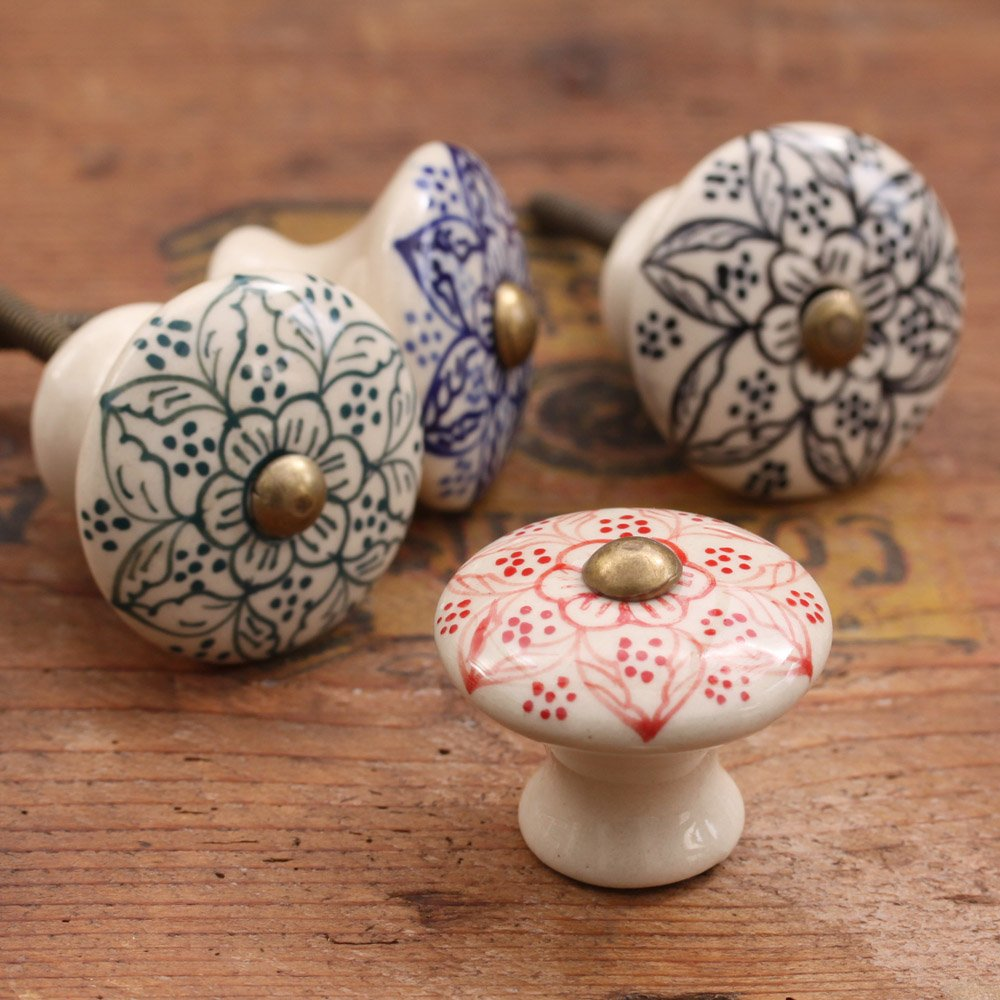 ceramic kitchen door knobs photo - 7