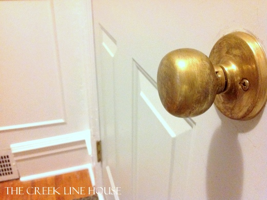 clean brass door knob photo - 19