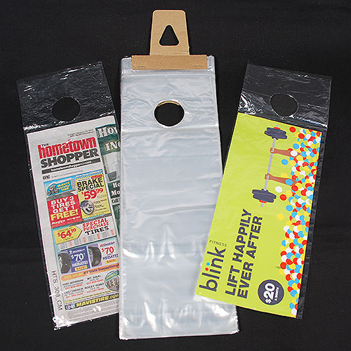 clear plastic door knob bags photo - 8