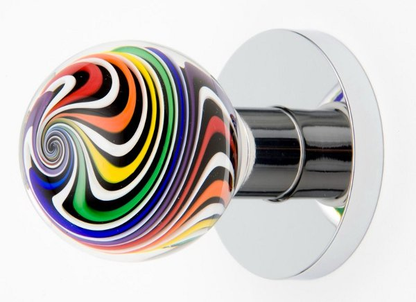 colored glass door knobs photo - 8
