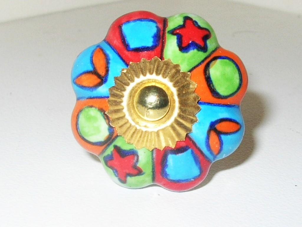 colorful door knobs photo - 1