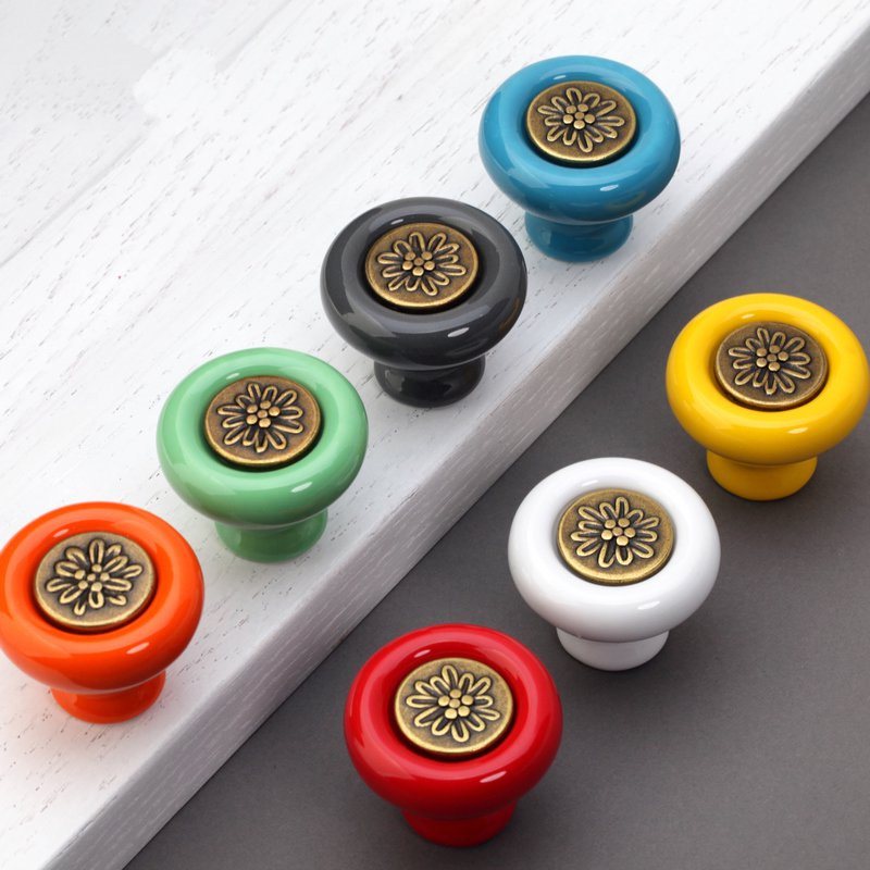 colorful door knobs photo - 3