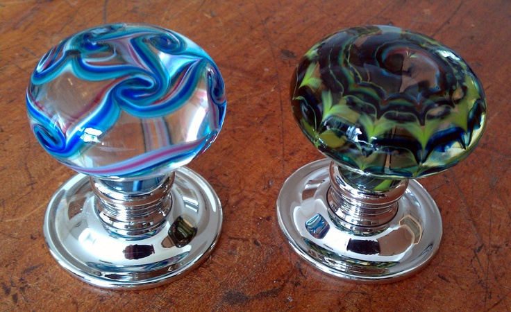 coloured glass door knobs photo - 15