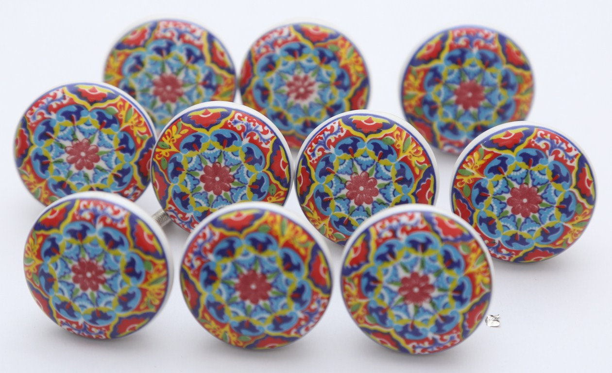 colourful door knobs photo - 2