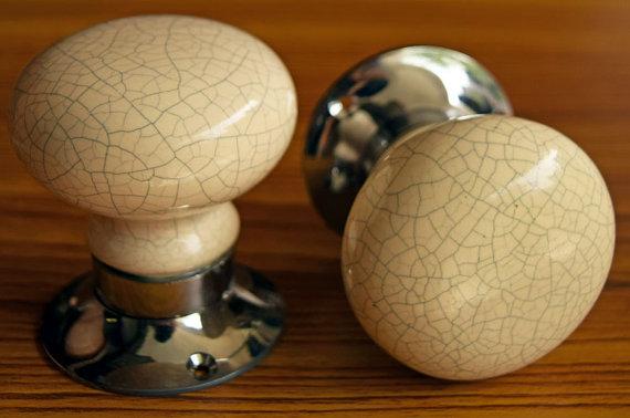 crackle glaze door knobs photo - 5