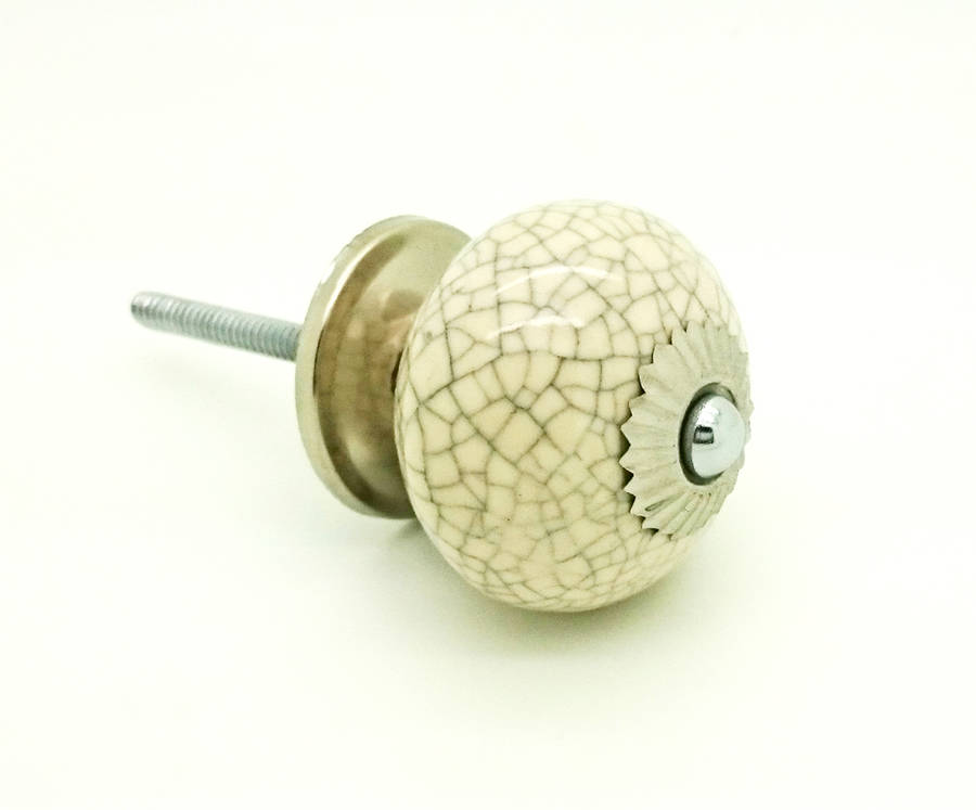 cream ceramic door knobs photo - 13