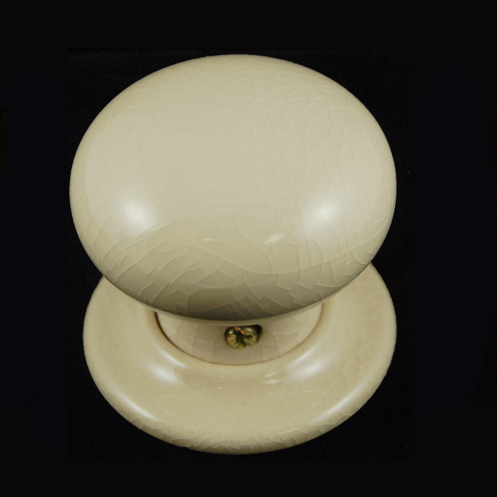 cream ceramic door knobs photo - 15