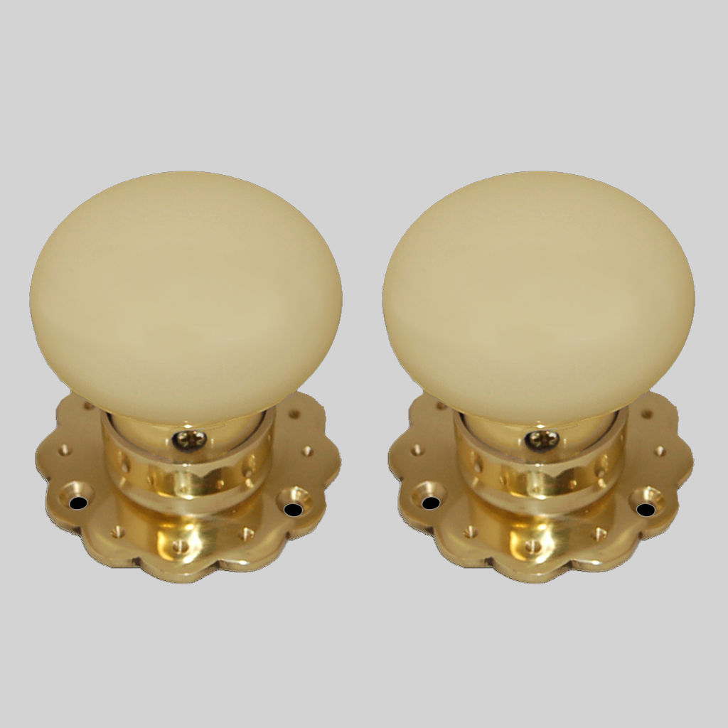 cream ceramic door knobs photo - 7