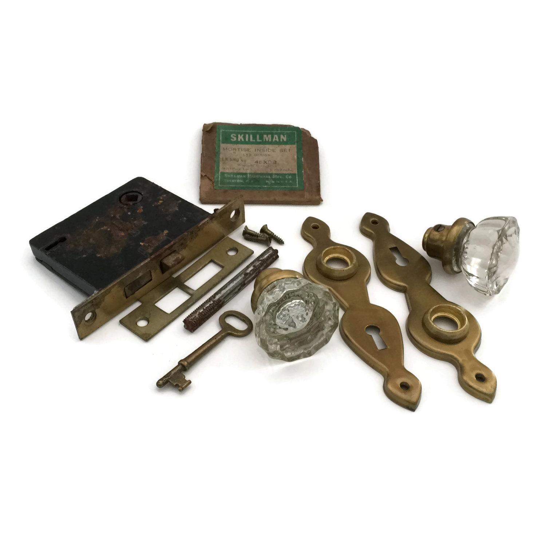 crystal door knobs with lock photo - 1