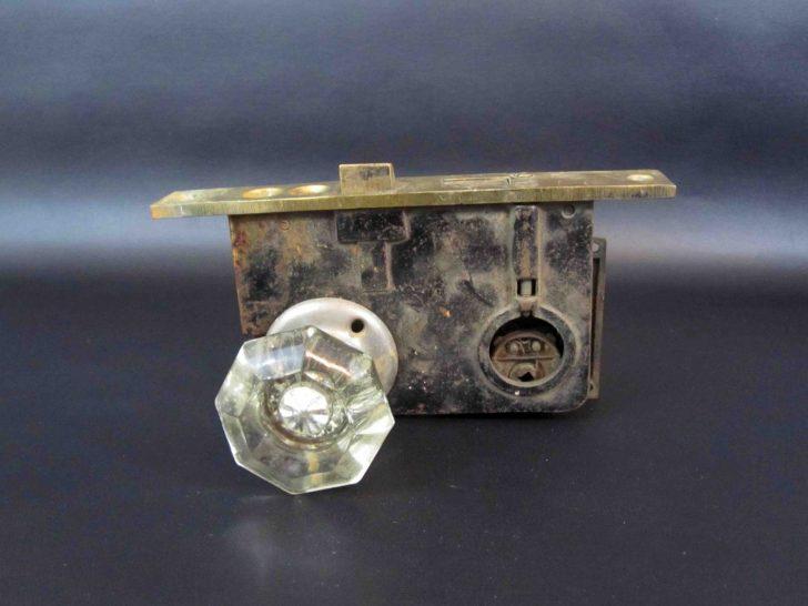 crystal door knobs with lock photo - 15