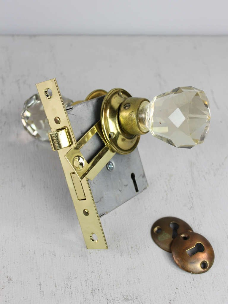 crystal door knobs with locks photo - 19