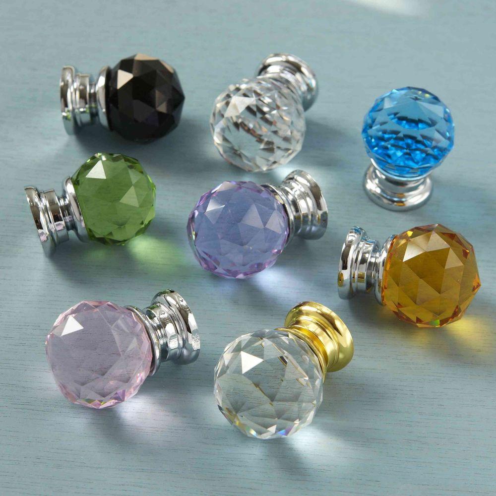 crystal glass door knobs photo - 6