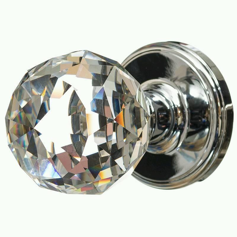 crystal glass door knobs photo - 8