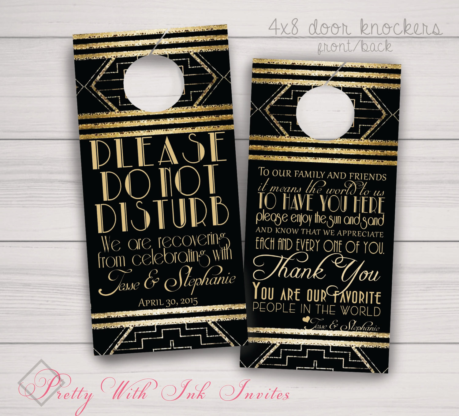 custom door knob hangers photo - 20