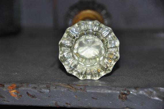 cut glass door knobs photo - 10