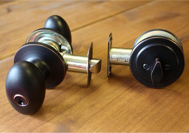 deadbolt door knob all in one photo - 14