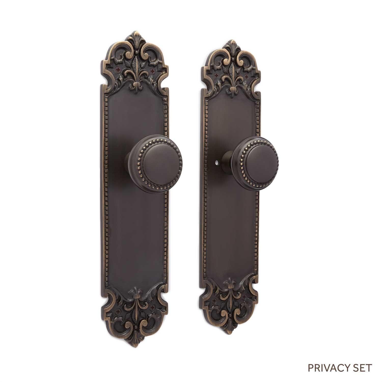 decorative door knob plates photo - 2