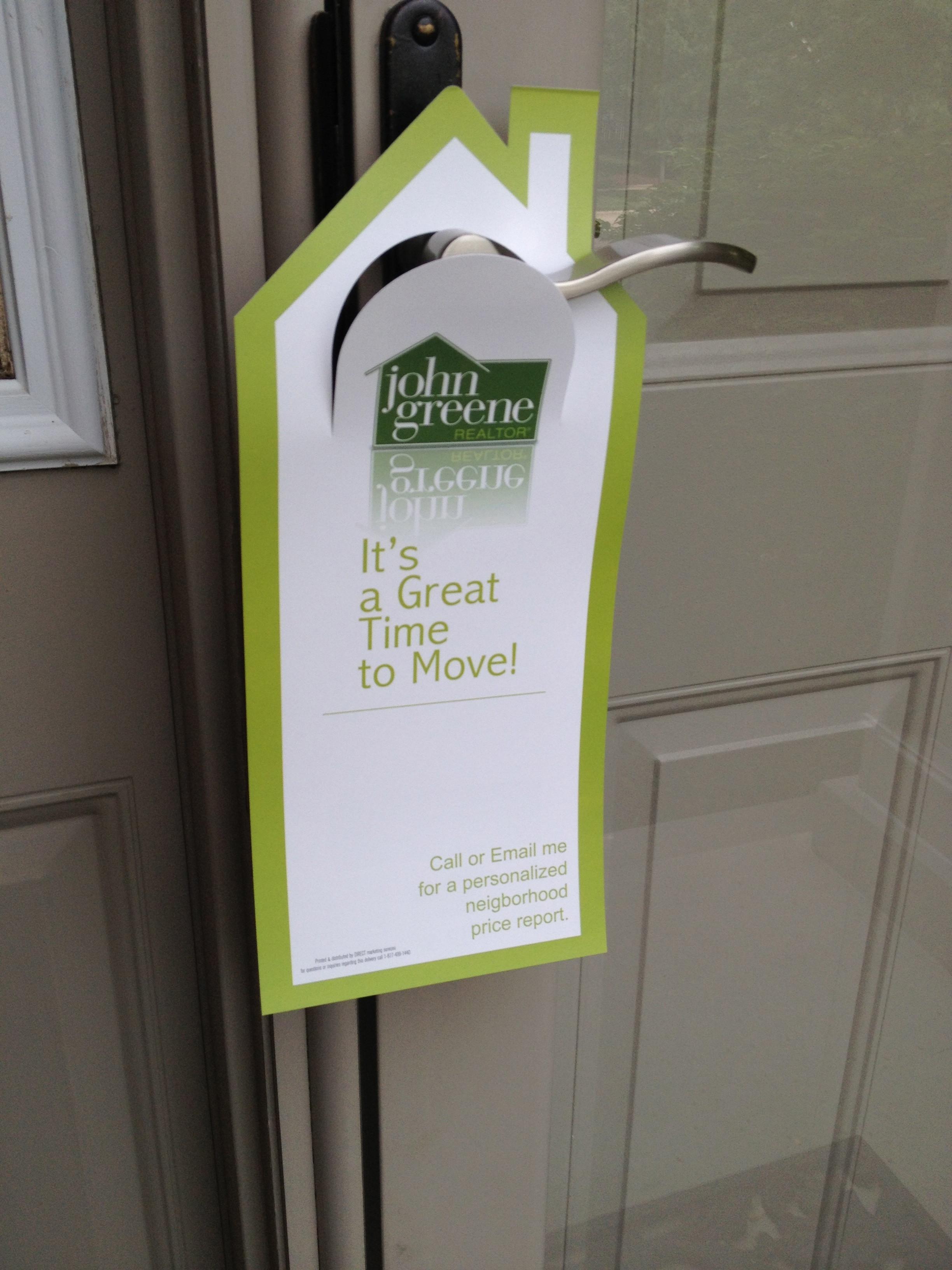 door knob advertising photo - 2