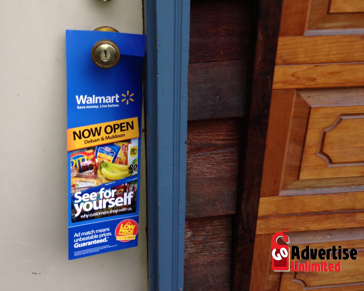 door knob advertising hangers photo - 11