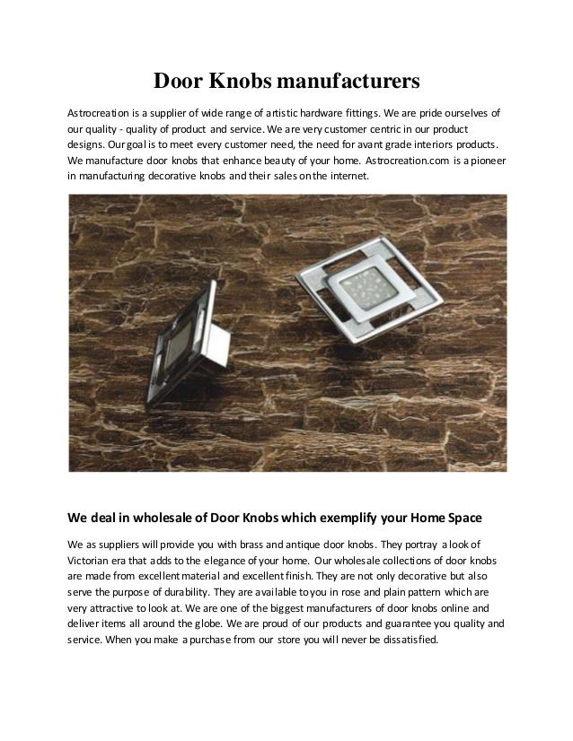 door knob companies photo - 20