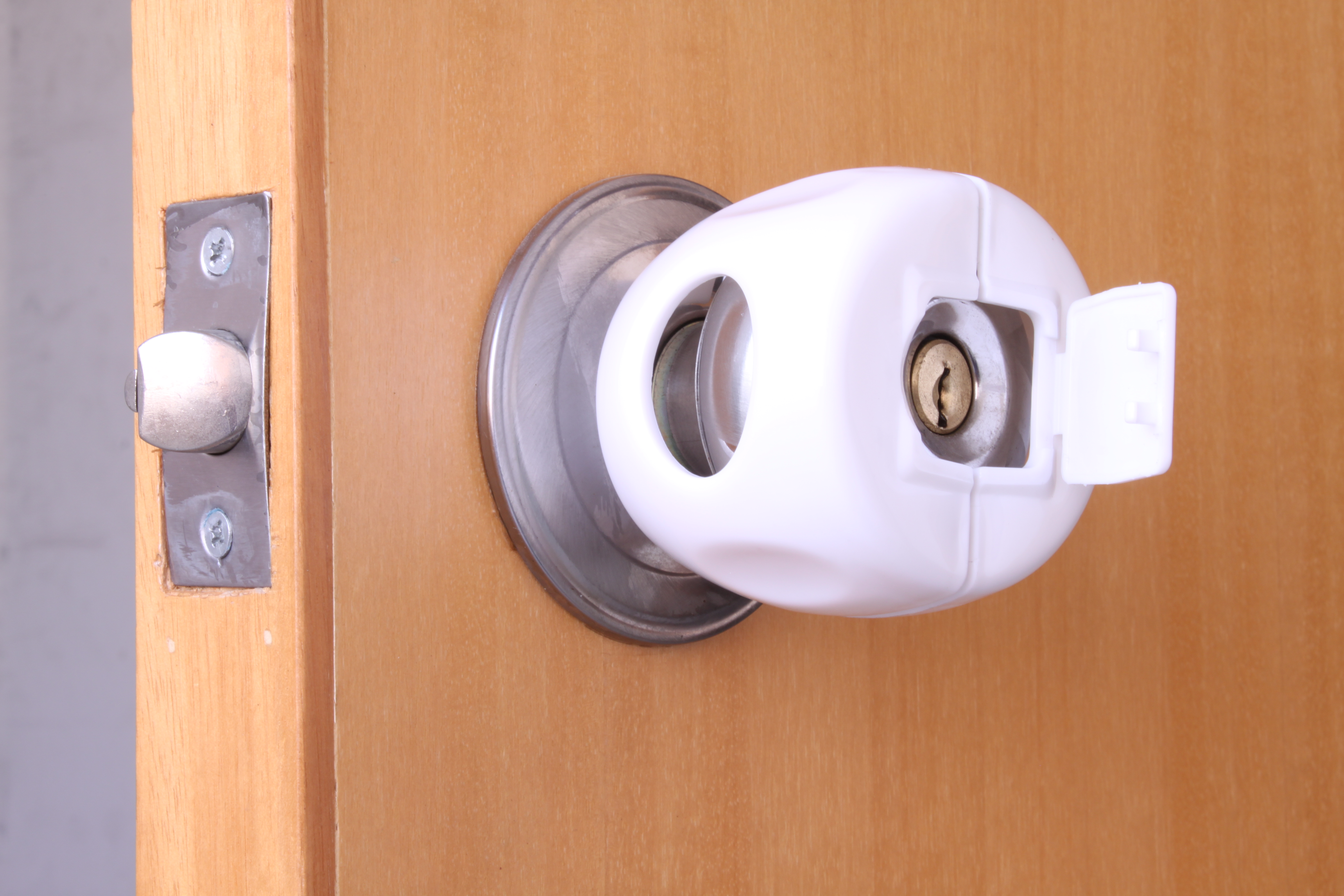 door knob cover lock photo - 11