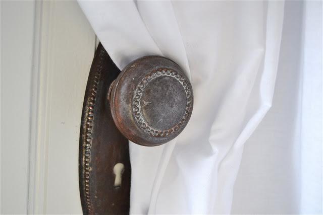 door knob curtain tie back photo - 16
