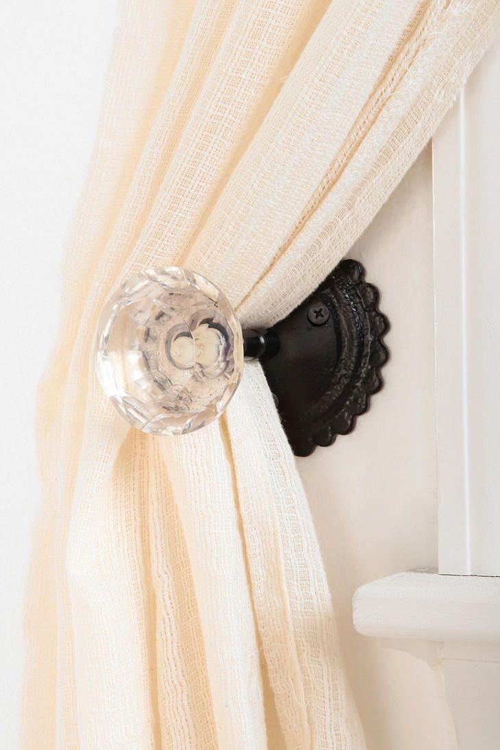 door knob curtain tie back photo - 4