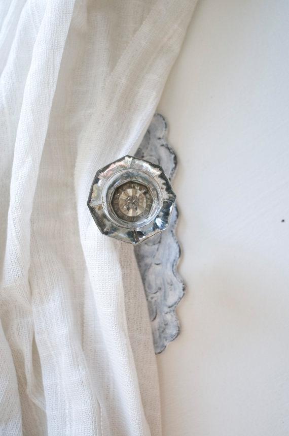 door knob curtain tie back photo - 5