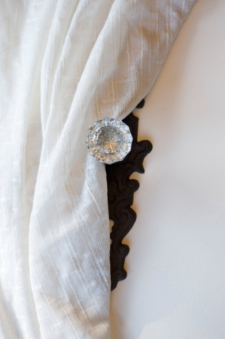 door knob curtain tie backs photo - 8