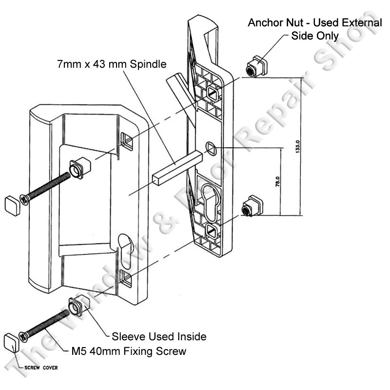 door knob diagram photo - 12