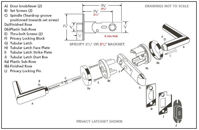 door knob diagram photo - 13