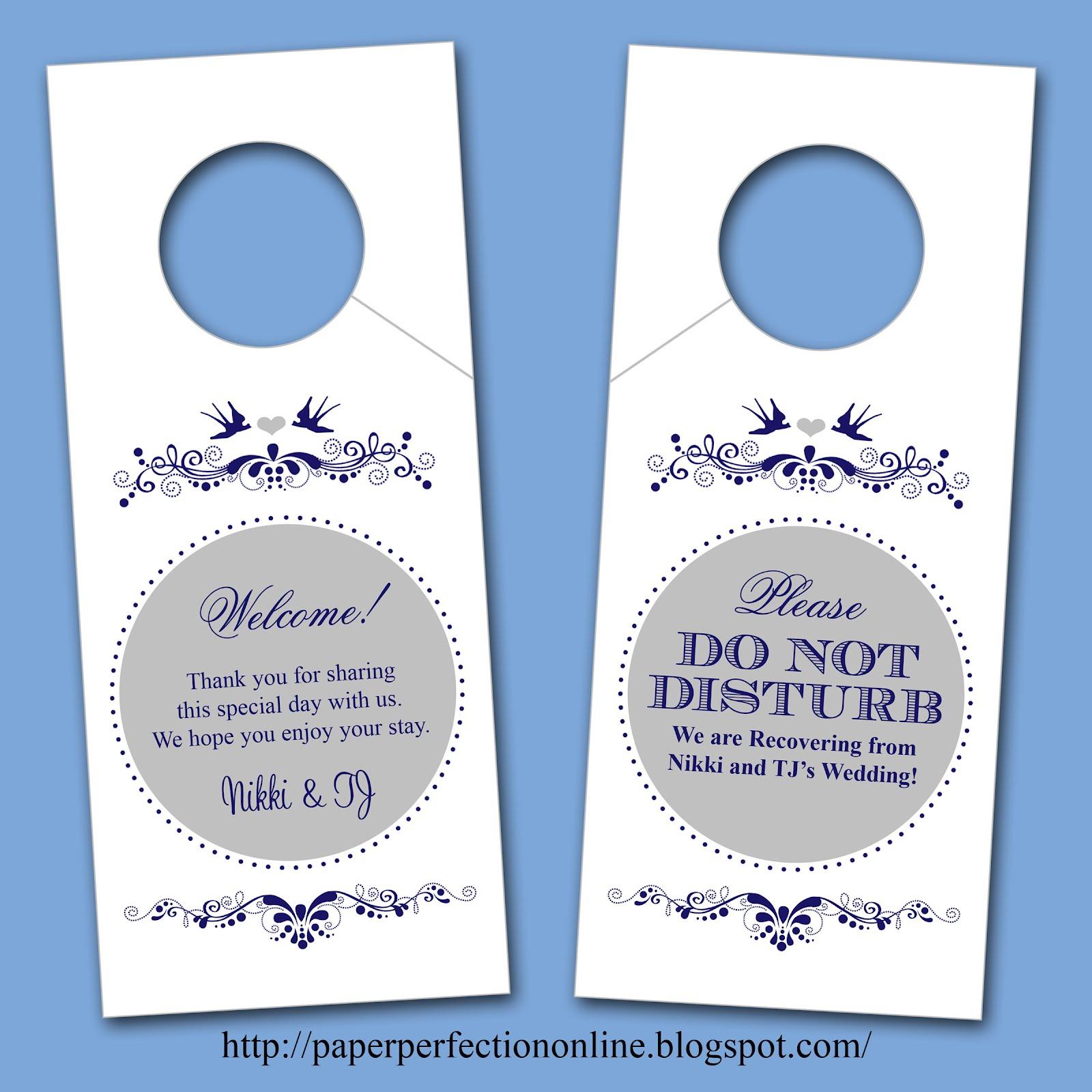 door knob hangers photo - 9