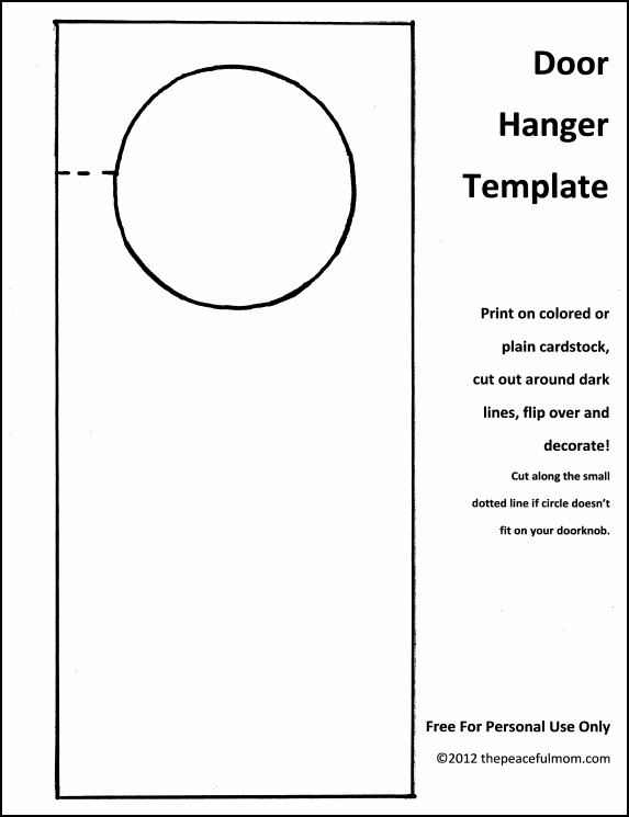 door knob hangers template photo - 5
