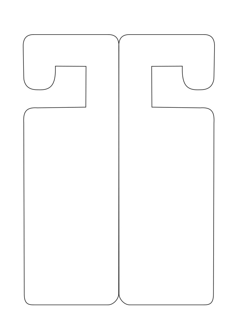 door knob hangers template free photo - 13