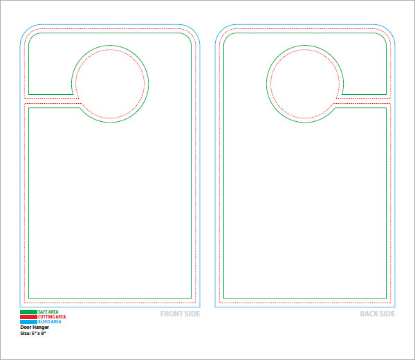 door knob hangers template free photo - 15
