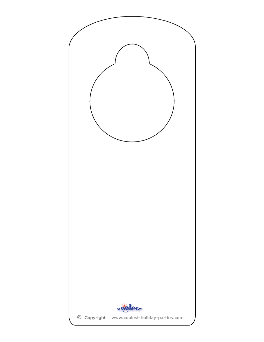 door knob hangers template free photo - 6