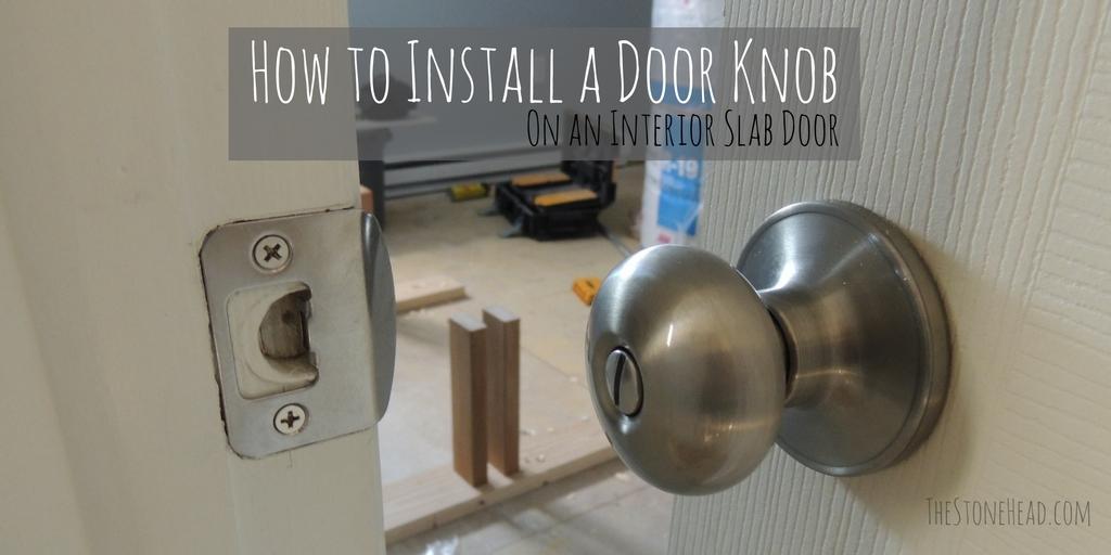 door knob install photo - 11