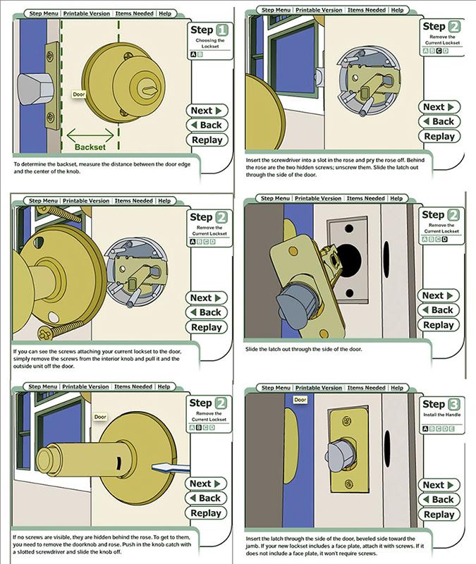 door knob install photo - 12