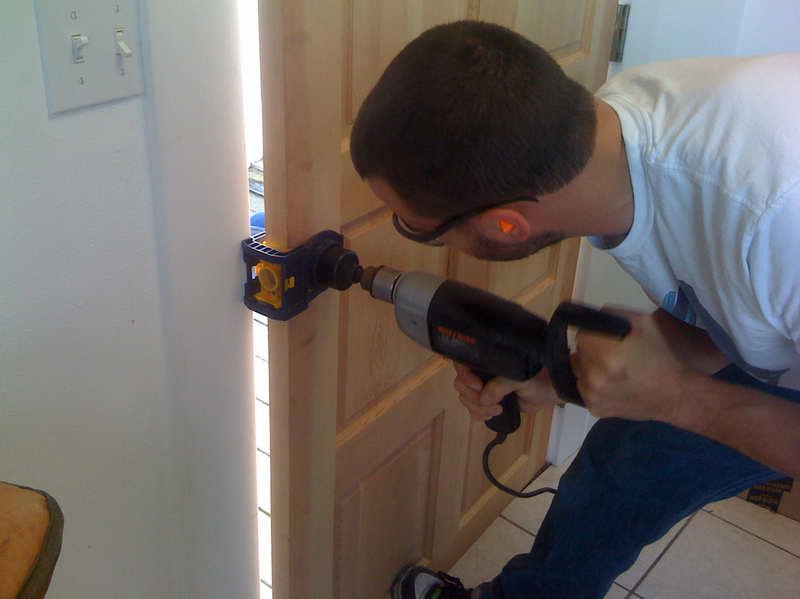 door knob install photo - 2