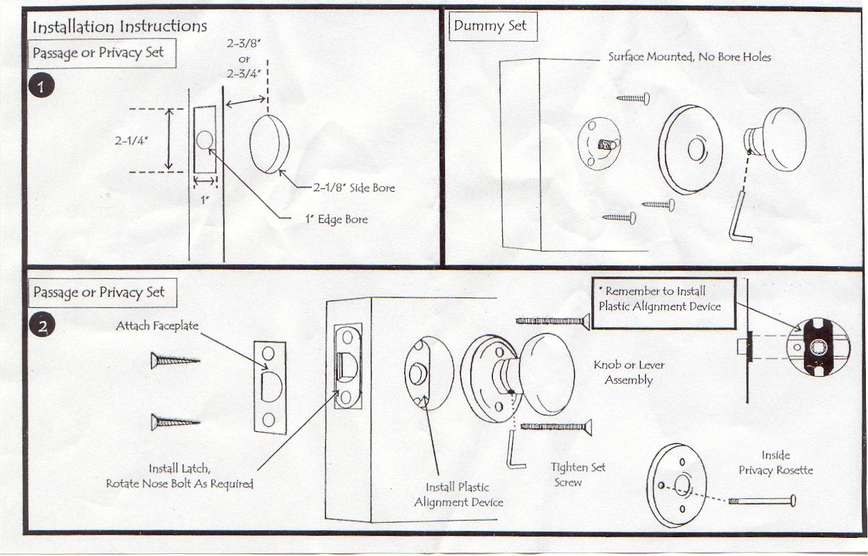 Door knob installation – Door Knobs